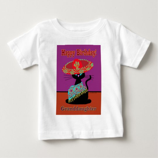 Sombrero Cat Granddaughter Baby T-Shirt