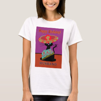 Sombrero Cat Husband T-Shirt