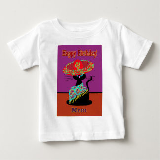 Sombrero Cat Mom Baby T-Shirt