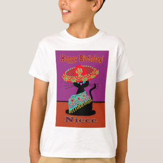Sombrero Cat Niece T-Shirt
