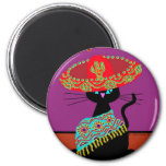 Sombrero Cat Sister 2 Inch Round Magnet