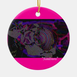 """""""Sombrero"""" Ceramic Ornament"""