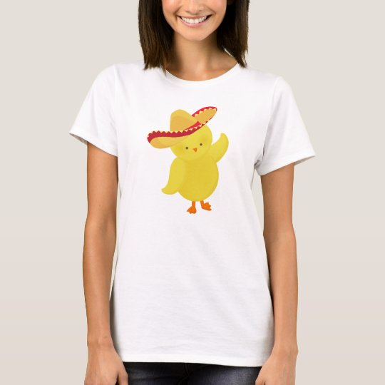 Sombrero Chick Mexican T-Shirt