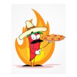 Sombrero Chile Chili Pepper Holds Up Pizza Flyers