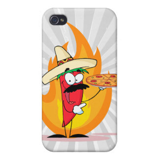 Sombrero Chile Chili Pepper Holds Up Pizza iPhone 4/4S Case