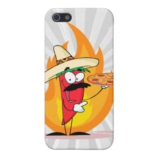 Sombrero Chile Chili Pepper Holds Up Pizza iPhone 5 Covers