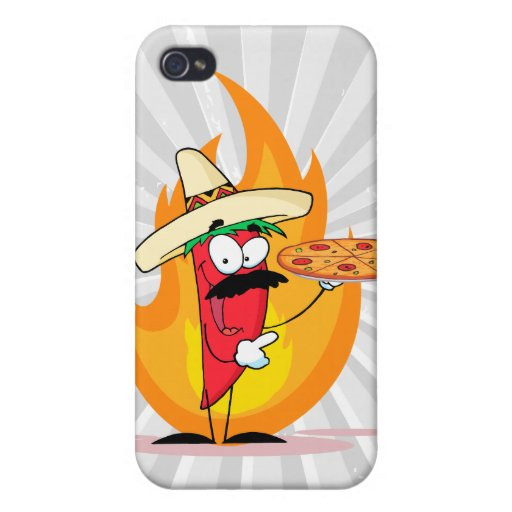 Sombrero Chile Chili Pepper Holds Up Pizza iPhone 4/4S Covers