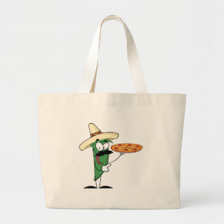 Sombrero Chile Pepper Holds Up Pizza Canvas Bag