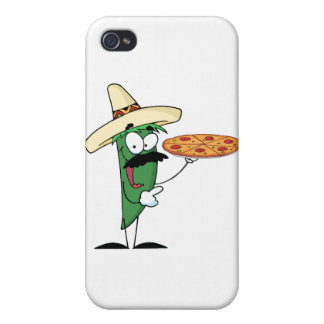 Sombrero Chile Pepper Holds Up Pizza Cover For iPhone 4
