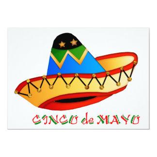 Sombrero colorido Cinco de Mayo Invitación 12,7 X 17,8 Cm