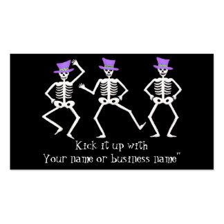 Sombrero de copa banal de la púrpura de los tarjetas de visita