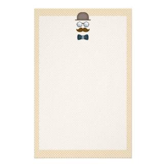Sombrero de copa, bigote, vidrios y pajarita  papeleria