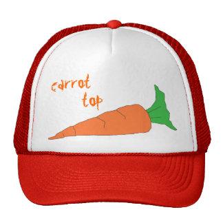 Sombrero de copa de la zanahoria gorras