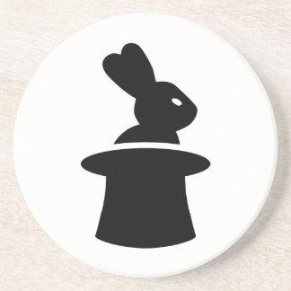 Sombrero de copa del conejo del mago posavasos manualidades