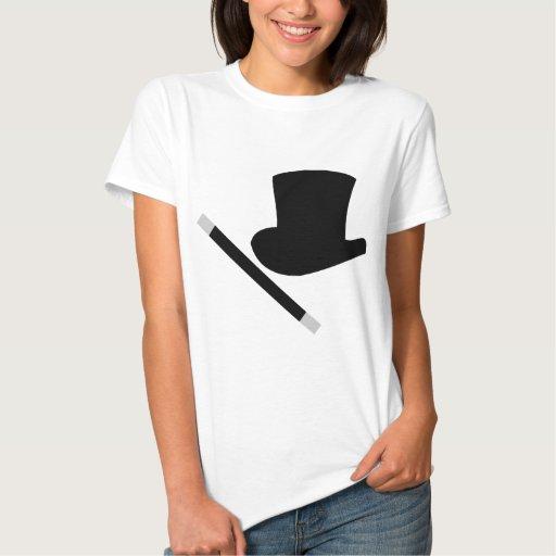 sombrero de copa del mago y vara de la magia playera