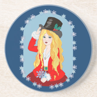 Sombrero de copa del navidad posavasos cerveza