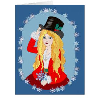 Sombrero de copa del navidad felicitacion