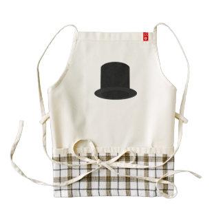 sombrero de copa delantal zazzle HEART