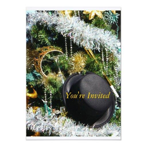 Sombrero de copa invitación 12,7 x 17,8 cm
