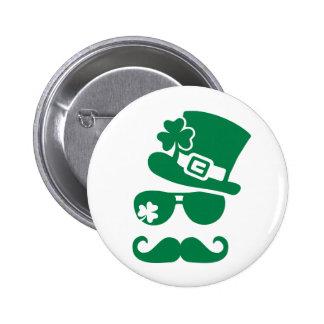 Sombrero de copa irlandés de las gafas de sol del  pins