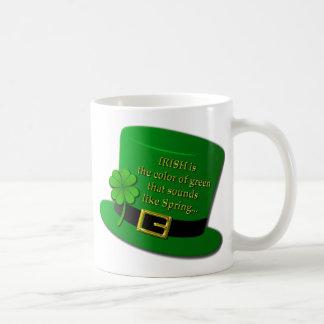 Sombrero de copa irlandés taza básica blanca