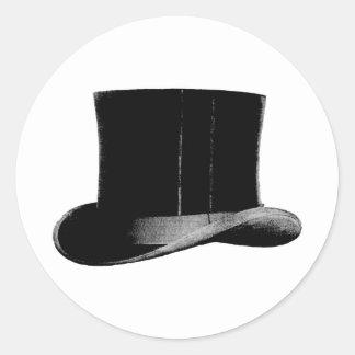 sombrero de copa etiquetas redondas