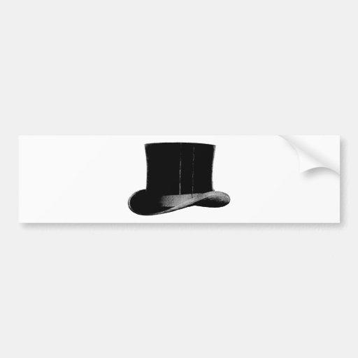 sombrero de copa pegatina de parachoque