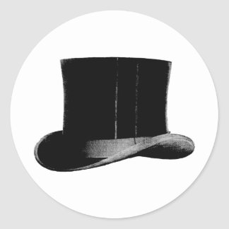 sombrero de copa pegatina redonda