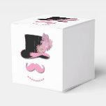 Sombrero de copa rosado del bigote paquete de regalo para bodas
