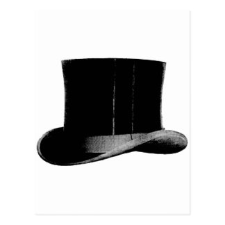 sombrero de copa postal
