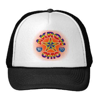 Sombrero de la estrella de Akron Ohio Gorro De Camionero