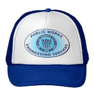 Sombrero de las obras públicas de Akron Ohio Gorras