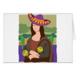 Sombrero de Mona Lisa Tarjeta De Felicitación