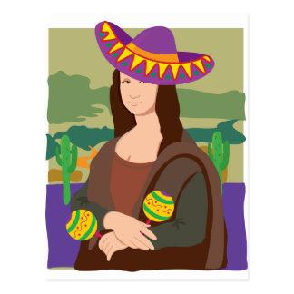 Sombrero de Mona Lisa Postal