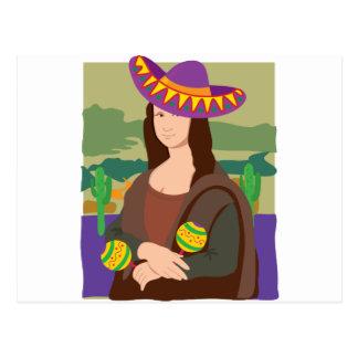 Sombrero de Mona Lisa Tarjetas Postales