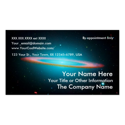 Sombrero Galaxy - business card template