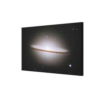Sombrero galaxy canvas print