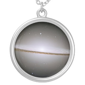 Sombrero Galaxy (Hubble Telescope) Silver Plated Necklace