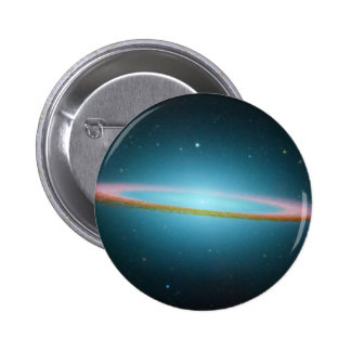 Sombrero Galaxy in Infrared 2 Inch Round Button