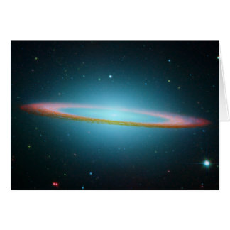 Sombrero Galaxy in Infrared Greeting Card