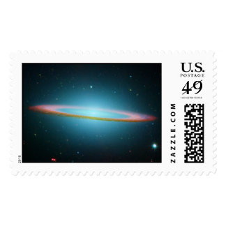 Sombrero Galaxy in Infrared Postage