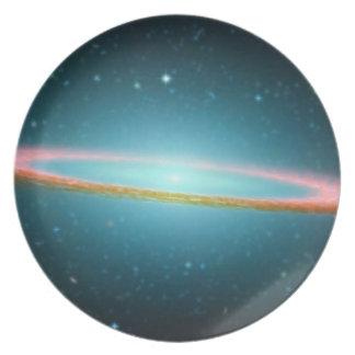 Sombrero galaxy party plate