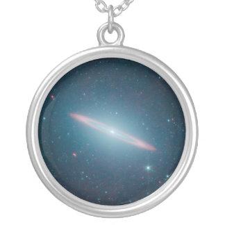 Sombrero Galaxy Round Pendant Necklace