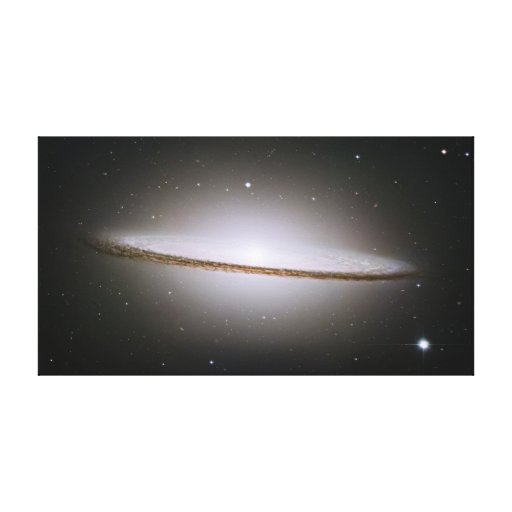 Sombrero Galaxy Wrapped Canvas Stretched Canvas Print