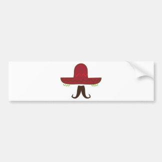 Sombrero Hat Car Bumper Sticker