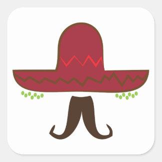 Sombrero Hat Square Sticker