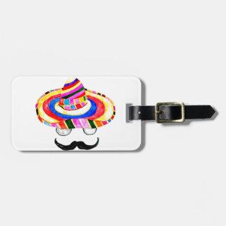 Sombrero Hat Watercolor 2 Bag Tag