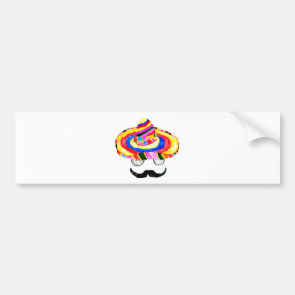 Sombrero Hat Watercolor 2 Bumper Sticker