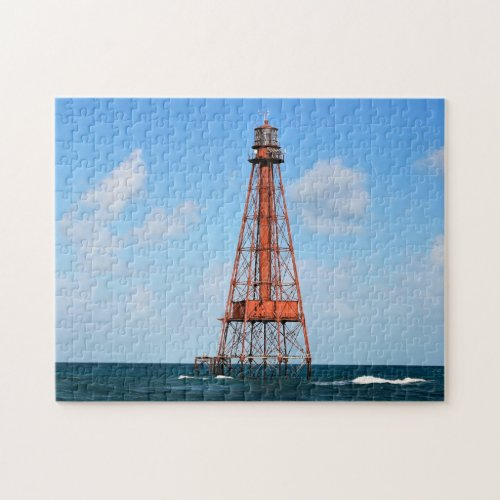Sombrero Key Lighthouse Florida Keys Jigsaw Puzzle