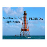 Sombrero Key Lighthouse, Florida Postcard